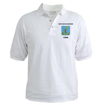 SAMSC - A01 - 04 - DUI - School of Advanced Military Studies - Cadre with Text - Golf Shirt