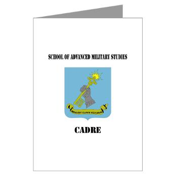 SAMSC - M01 - 02 - DUI - School of Advanced Military Studies - Cadre with Text - Greeting Cards (Pk of 20)