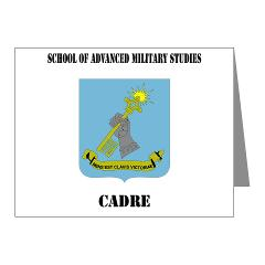 SAMSC - M01 - 02 - DUI - School of Advanced Military Studies - Cadre with Text - Note Cards (Pk of 20)