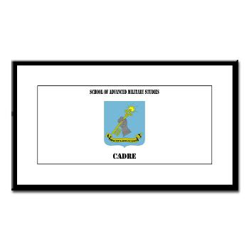 SAMSC - M01 - 02 - DUI - School of Advanced Military Studies - Cadre with Text - Small Framed Print
