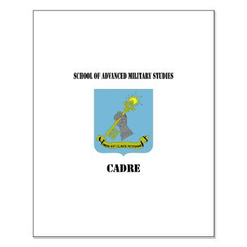 SAMSC - M01 - 02 - DUI - School of Advanced Military Studies - Cadre with Text - Small Poster