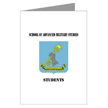 SAMSS - M01 - 02 - DUI - School of Advanced Military Studies - Students with Text - Greeting Cards (Pk of 20)