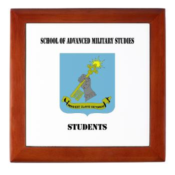 SAMSS - M01 - 03 - DUI - School of Advanced Military Studies - Students with Text - Keepsake Box