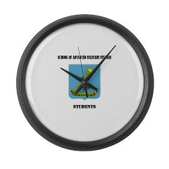 SAMSS - M01 - 03 - DUI - School of Advanced Military Studies - Students with Text - Large Wall Clock