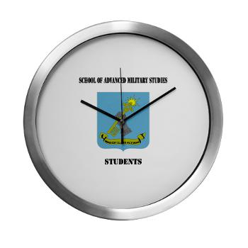 SAMSS - M01 - 03 - DUI - School of Advanced Military Studies - Students with Text - Modern Wall Clock