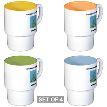 SAMSS - M01 - 03 - DUI - School of Advanced Military Studies - Students with Text - Stackable Mug Set (4 mugs)