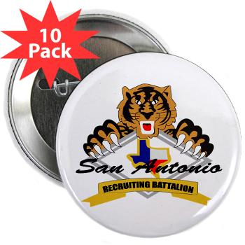 "SARB - M01 - 01 - DUI - San Antonio Recruiting Bn - 2.25"" Button (10 pack)"