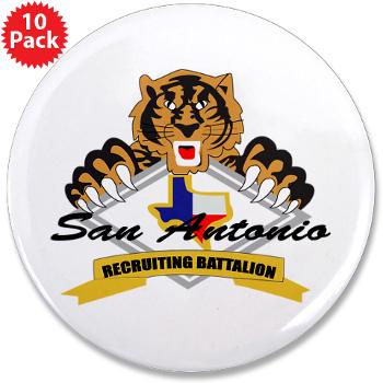 "SARB - M01 - 01 - DUI - San Antonio Recruiting Bn - 3.5"" Button (10 pack)"