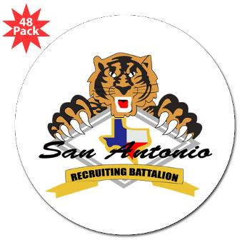 "SARB - M01 - 01 - DUI - San Antonio Recruiting Bn - 3"" Lapel Sticker (48 pk)"