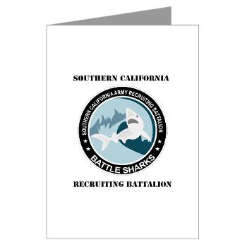 SCRB - M01 - 02 - DUI - Southern California Recruiting Bn with Text Greeting Cards (Pk of 20)