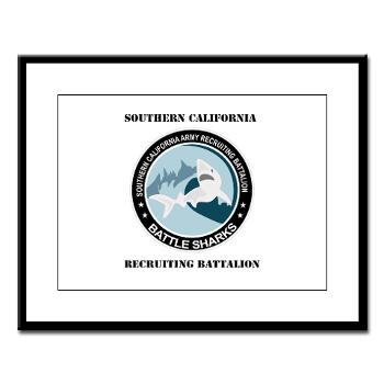SCRB - M01 - 02 - DUI - Southern California Recruiting Bn with Text Large Framed Print
