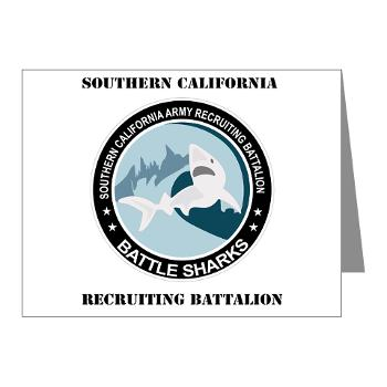 SCRB - M01 - 02 - DUI - Southern California Recruiting Bn with Text Note Cards (Pk of 20)