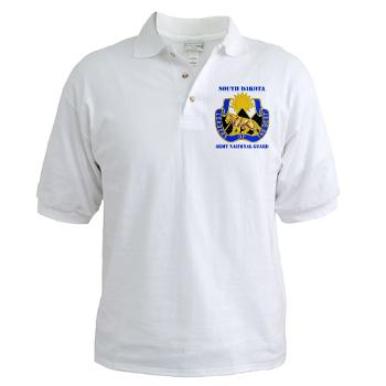 SDARNG - A01 - 04 - DUI - South Dakota Army National Guard with text - Golf Shirt
