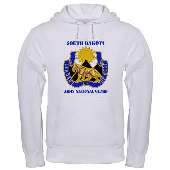 SDARNG - A01 - 03 - DUI - South Dakota Army National Guard with text - Hooded Sweatshirt