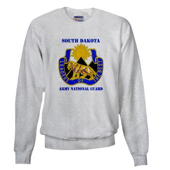 SDARNG - A01 - 03 - DUI - South Dakota Army National Guard with text - Sweatshirt