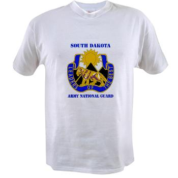 SDARNG - A01 - 04 - DUI - South Dakota Army National Guard with text - Value T-shirt