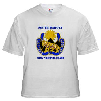 SDARNG - A01 - 04 - DUI - South Dakota Army National Guard with text - White t-Shirt