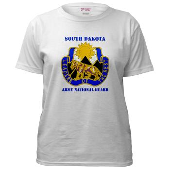 SDARNG - A01 - 04 - DUI - South Dakota Army National Guard with text - Women's T-Shirt
