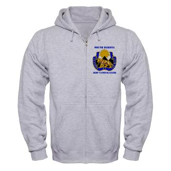SDARNG - A01 - 03 - DUI - South Dakota Army National Guard with text - Zip Hoodie