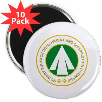 "SDDC - M01 - 01 - Military Surface Deployment and Distribution Command - 2.25"" Magnet (10 pack)"