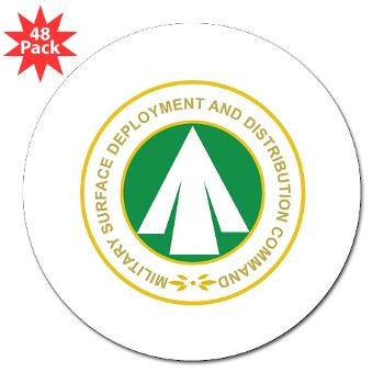 "SDDC - M01 - 01 - Military Surface Deployment and Distribution Command - 3"" Lapel Sticker (48 pk)"