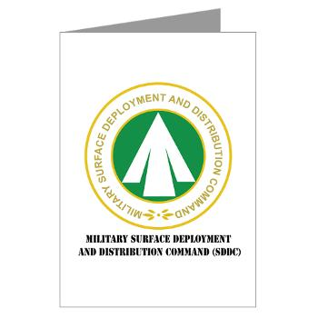 SDDC - M01 - 02 - Military Surface Deployment and Distribution Command with Text - Greeting Cards (Pk of 20)