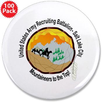 "SLCRB - M01 - 01 - DUI - Salt Lake City Recruiting Battalion 3.5"" Button (100 pack)"