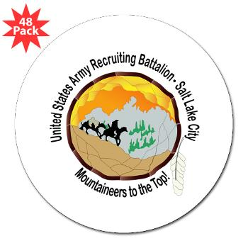 "SLCRB - M01 - 01 - DUI - Salt Lake City Recruiting Battalion 3"" Lapel Sticker (48 pk)"