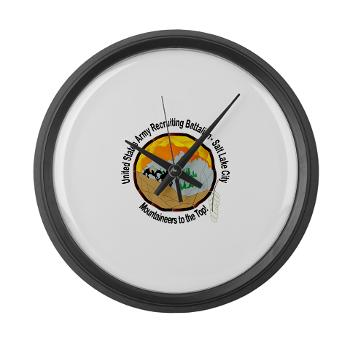 SLCRB - M01 - 03 - DUI - Salt Lake City Recruiting Battalion Large Wall Clock