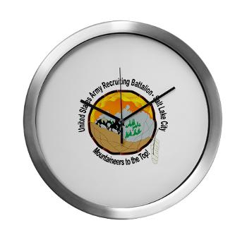 SLCRB - M01 - 03 - DUI - Salt Lake City Recruiting Battalion Modern Wall Clock
