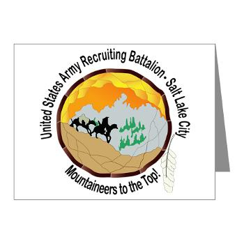 SLCRB - M01 - 02 - DUI - Salt Lake City Recruiting Battalion Note Cards (Pk of 20)