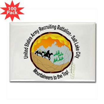 SLCRB - M01 - 01 - DUI - Salt Lake City Recruiting Battalion Rectangle Magnet (100 pack)