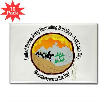 SLCRB - M01 - 01 - DUI - Salt Lake City Recruiting Battalion Rectangle Magnet (10 pack)
