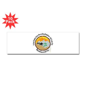 SLCRB - M01 - 01 - DUI - Salt Lake City Recruiting Battalion Sticker (Bumper 10 pk)