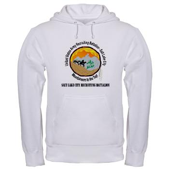 SLCRB - A01 - 03 - DUI - Salt Lake City Recruiting Battalion with Text Hooded Sweatshirt