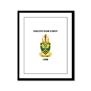 SMAC - M01 - 02 - DUI - Sergeants Major Academy Cadre with Text - Framed Panel Print