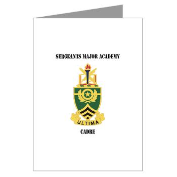 SMAC - M01 - 02 - DUI - Sergeants Major Academy Cadre with Text - Greeting Cards (Pk of 20)