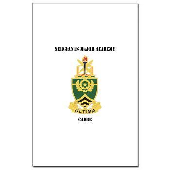 SMAC - M01 - 02 - DUI - Sergeants Major Academy Cadre with Text - Mini Poster Print