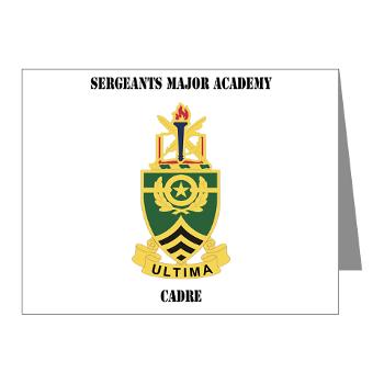 SMAC - M01 - 02 - DUI - Sergeants Major Academy Cadre with Text - Note Cards (Pk of 20)
