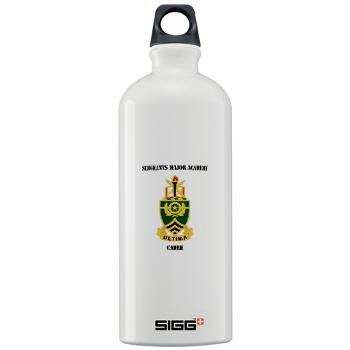 SMAC - M01 - 03 - DUI - Sergeants Major Academy Cadre with Text - Sigg Water Bottle 1.0L