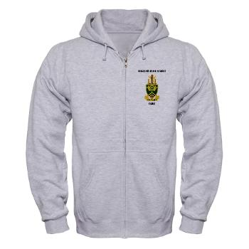 SMAC - A01 - 03 - DUI - Sergeants Major Academy Cadre with Text - Zip Hoodie