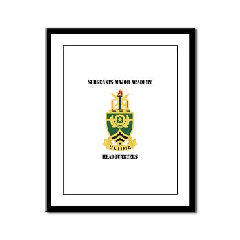 SMAH - M01 - 02 - DUI - Sergeants Major Academy Headquarters with Text - Framed Panel Print