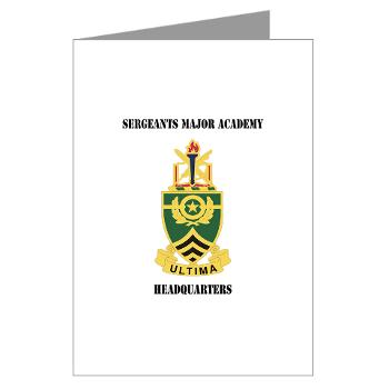 SMAH - M01 - 02 - DUI - Sergeants Major Academy Headquarters with Text - Greeting Cards (Pk of 10)