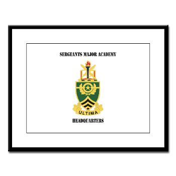 SMAH - M01 - 02 - DUI - Sergeants Major Academy Headquarters with Text - Large Framed Print