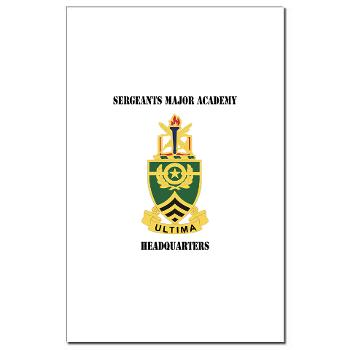 SMAH - M01 - 02 - DUI - Sergeants Major Academy Headquarters with Text - Mini Poster Print