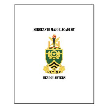 SMAH - M01 - 02 - DUI - Sergeants Major Academy Headquarters with Text - Small Poster