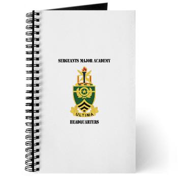 SMAH - M01 - 02 - DUI - Sergeants Major Academy Headquarters with Text - Journal