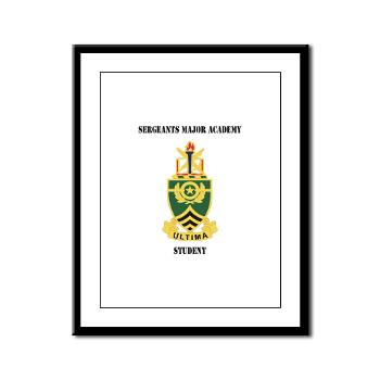 SMAS - M01 - 02 - DUI - Sergeants Major Academy Students with Text - Framed Panel Print