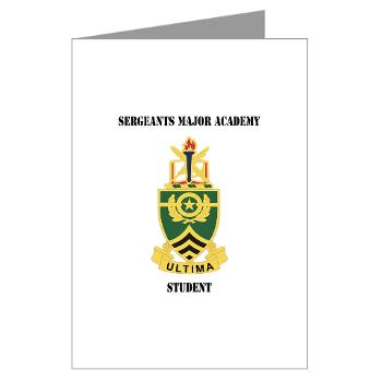 SMAS - M01 - 02 - DUI - Sergeants Major Academy Students with Text - Greeting Cards (Pk of 20)