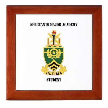 SMAS - M01 - 03 - DUI - Sergeants Major Academy Students with Text - Keepsake Box